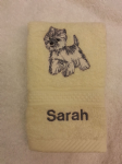 WESTIE DOG PERSONALISED FACE CLOTH